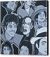 Tribute To Michael Jackson Canvas Print by Gary Niles