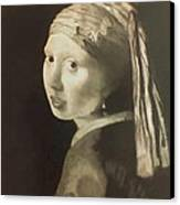Tribute To Vermeer Homenaje A Jan Vermeer Canvas Print by Fernando A Hernandez
