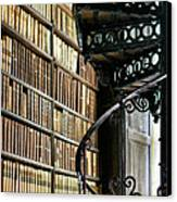 Trinity Collage Library Dublin Canvas Print by Dick Wood