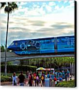 Tron Monorail At Walt Disney World Canvas Print by Thomas Woolworth