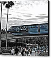 Tron Monorail Wdw In Sc Canvas Print by Thomas Woolworth