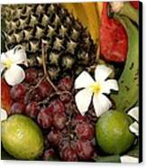 Tropical Fruit Basket Canvas Print by Cole Black