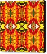 Tropical Leaf Pattern 2 Canvas Print by Amy Vangsgard