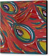 Tropical Peacock Canvas Print by Jennifer Schwab
