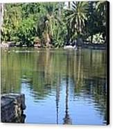 Tropical Reflection Canvas Print by Kiros Berhane