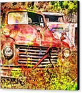 Truck Abstract Canvas Print by Robert Jensen