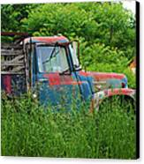 Truck Plant Canvas Print by Kenneth Feliciano