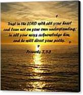 Trust In The Lord  Canvas Print by Barbara Snyder