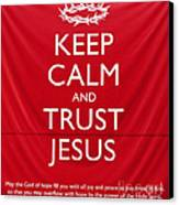 Trust Jesus 01 Canvas Print by Rick Piper Photography