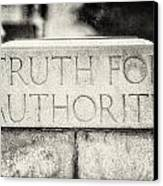 Truth For Authority Lucretia Mott  Canvas Print