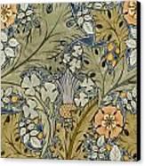 Tudor Roses Thistles And Shamrock Canvas Print by Voysey
