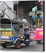 Tuk Tuk - City Life - Bangkok Thailand - 01131 Canvas Print by DC Photographer