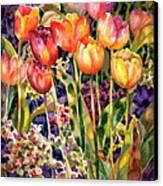 Tulips Canvas Print by Ann  Nicholson