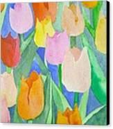 Tulips Multicolor Canvas Print