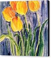 Tulips Canvas Print by Sherry Harradence