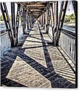 Tulsa Pedestrian Bridge Canvas Print by Tamyra Ayles