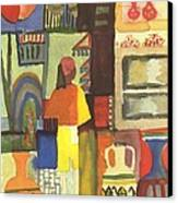 Tunisian Market Canvas Print by August Macke