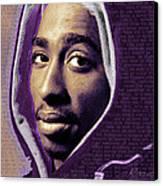 Tupac Shakur And Lyrics Canvas Print