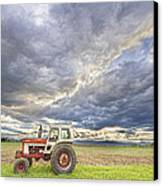 Turbo Tractor Country Evening Skies Canvas Print by James BO  Insogna