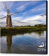 Turf Fen Drainage Mill Canvas Print by Louise Heusinkveld