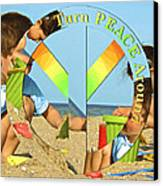 Turn Peace Around 2 Canvas Print by Charlie and Norma Brock