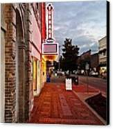 Turnage Theater Grand Opening Canvas Print by Joan Meyland