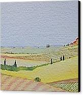 Tuscan Hillside Three Canvas Print