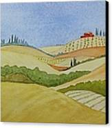Tuscan Hillside Two Canvas Print
