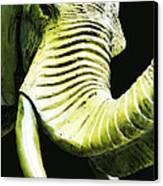 Tusk 1 - Dramatic Elephant Head Shot Art Canvas Print by Sharon Cummings