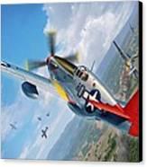 Tuskegee Airmen P-51 Mustang Canvas Print by Stu Shepherd