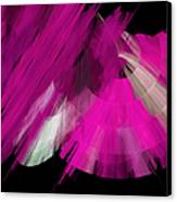 Tutu Stage Left Abstract Fuchsia Canvas Print