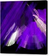 Tutu Stage Left Abstract Purple Canvas Print