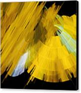 Tutu Stage Left Abstract Yellow Canvas Print