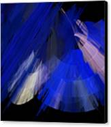 Tutu Stage Left Blue Abstract Canvas Print