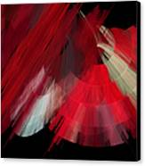 Tutu Stage Left Red Abstract Canvas Print by Andee Design