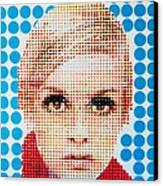 Twiggy Blue Dot  Canvas Print by Grant  Swinney
