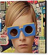 Twiggy Pop  Canvas Print by Chandler  Douglas