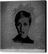 Twiggy Street Art Canvas Print