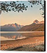 Twilight At Redfish Lake  Canvas Print by Robert Bales