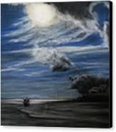 Twilight Beach Canvas Print by Rachael Curry