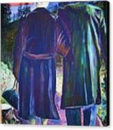 Twilight Couple Canvas Print by Linda Vaughon