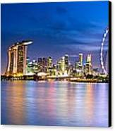 Twilight In Singapore Canvas Print by Ulrich Schade
