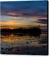Twilight Silhouette At Candle Lake Canvas Print by Gerald Murray Photography