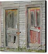 Twin Doors Canvas Print