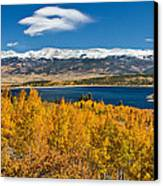 Twin Lakes Colorado Autumn Snow Dusted Mountains Canvas Print by James BO  Insogna
