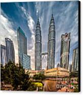 Twin Towers Kl Canvas Print by Adrian Evans