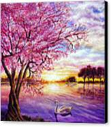 Twisted Blossom Canvas Print by Ann Marie Bone
