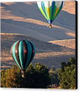 Two Balloons In Morning Sunshine Canvas Print