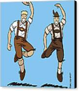 Two Bavarian Lederhosen Men Canvas Print by Frank Ramspott