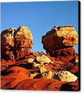 Two Big Rocks At Capital Reef Canvas Print by Jeff Swan
